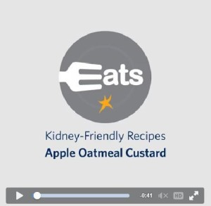 Apple Oatmean Custard-DaVita Eats logo